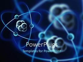 PowerPoint template displaying the representation of various atomic structures