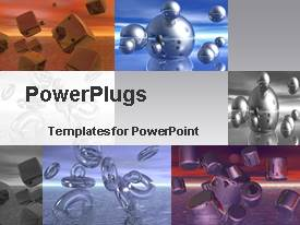 PowerPlugs: PowerPoint template with representation of various shapes with the help of various structures