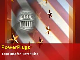 PowerPlugs: PowerPoint template with the representation of the White house