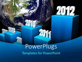 PowerPlugs: PowerPoint template with the representation of years from 2007 to 2012