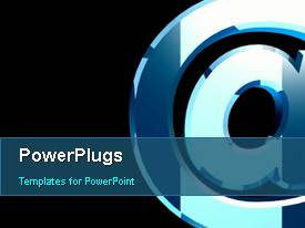 PowerPlugs: PowerPoint template with revolving email sign with black color