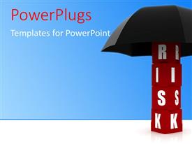 PowerPlugs: PowerPoint template with a number of letters with an umbrella