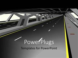 PowerPlugs: PowerPoint template with a road with an overhead bridge