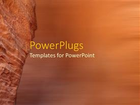 PowerPoint template displaying a rock in the background with place for text in front