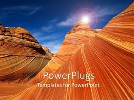 PowerPoint template displaying rocks desert canyon utah usa