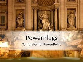 PowerPoint template displaying roman Statues depicting historical and mythological figures