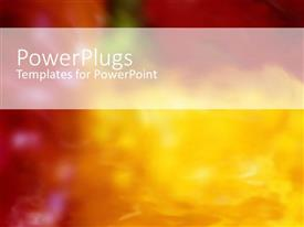 PowerPlugs: PowerPoint template with romantic depiction with warm red and yellow flower blur