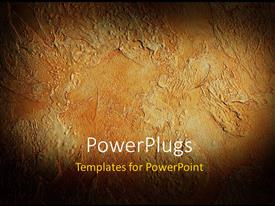 PowerPoint template displaying a rough structure of a brown colored decorated plaster patch