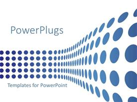 PowerPlugs: PowerPoint template with rows and columns of circular light blue dot patters