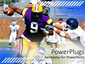 PowerPlugs: PowerPoint template with a rugby player holding the ball
