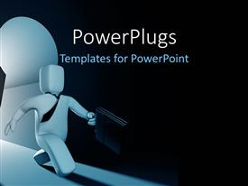 PowerPlugs: PowerPoint template with a person with darkness in the background