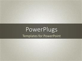 PowerPoint template displaying sandstone noise texture in grey color