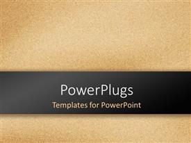 PowerPlugs: PowerPoint template with sandstone texture effect