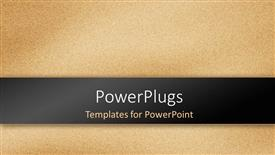 PowerPoint template displaying sandstone texture effect