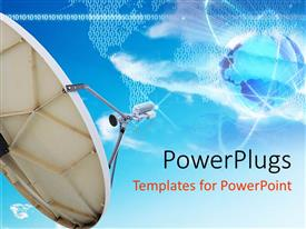 PowerPlugs: PowerPoint template with a dish with a number of patterns in the background