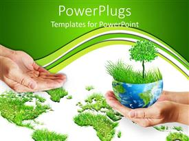 PowerPoint template displaying save the Trees