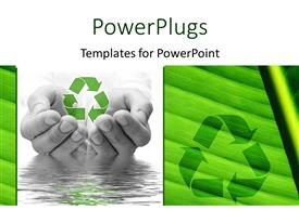 PowerPlugs: PowerPoint template with saving of water and recycling concept with hands