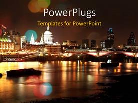 PowerPlugs: PowerPoint template with the scene of a city at night