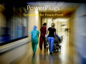 PowerPlugs: PowerPoint template with the scene of an emergency ward
