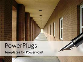 PowerPlugs: PowerPoint template with school corridor of an educational center