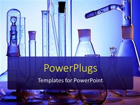 PowerPlugs: PowerPoint template with science laboratory with medical science equipment performing research