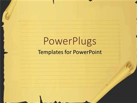 PowerPlugs: PowerPoint template with scrool paper with cuts and tears, broken paper margins, lined paper