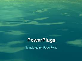 PowerPlugs: PowerPoint template with a sea in the background with a bullet point