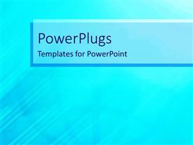 PowerPlugs: PowerPoint template with a sea green background with place for text