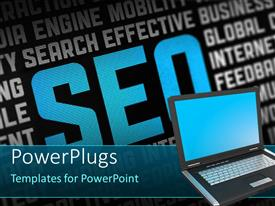 PowerPlugs: PowerPoint template with search Engine Optimization theme with SEO related words