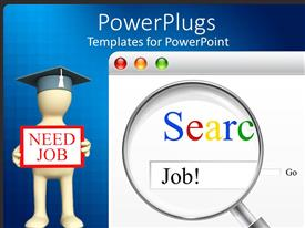 PowerPlugs: PowerPoint template with searching of job for unemployed people