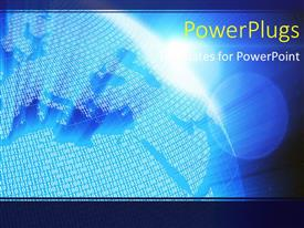 PowerPlugs: PowerPoint template with series of binary digits on earth globe and world map
