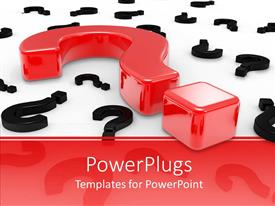 PowerPlugs: PowerPoint template with a series of question signs with red and black colors