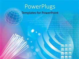 PowerPoint template displaying a set of numbered keys on a blue background