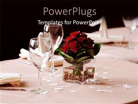 I love this presentation enhanced with a set table of plates and cups with a flower