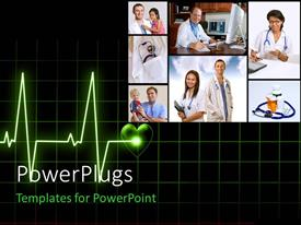 PowerPlugs: PowerPoint template with seven tiles showing doctors and nurses attending to patients