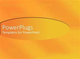 PowerPlugs: PowerPoint template with shades of orange and yellow with listing of media equipments