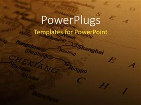PowerPlugs: PowerPoint template with a map in the background with place for text