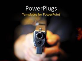 PowerPlugs: PowerPoint template with sharp focus on gun held by police officer