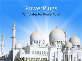 PowerPlugs: PowerPoint template with sheikh Zayed Mosque is Largest in United Arab Emirates