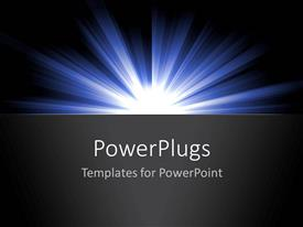 PowerPlugs: PowerPoint template with shining light in dark abstract ideas black background