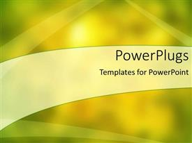 PowerPoint template displaying a shiny yellowish background with place for text