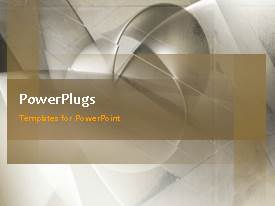 PowerPlugs: PowerPoint template with a short video of an abstract ash colored background
