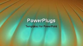 PowerPoint template displaying a short video of an abstract blue colored background - widescreen format
