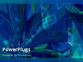 PowerPlugs: PowerPoint template with a short video of an abstract blue colored background