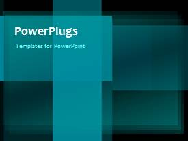PowerPoint template displaying a short video of an abstract blue tiles background