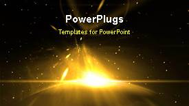 PowerPoint template displaying a short video of an abstract bright light in space - widescreen format