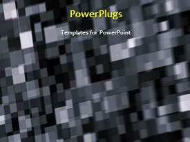 PowerPlugs: PowerPoint template with a short video of an abstract checked black and white background