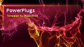 PowerPlugs: PowerPoint template with a short video of an abstract fiery wine colored background - widescreen format