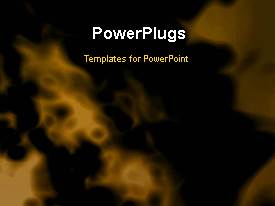 PowerPlugs: PowerPoint template with a short video of an abstract fiery yellow background