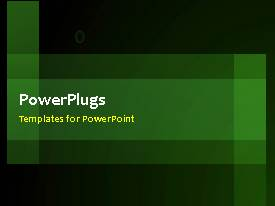 PowerPlugs: PowerPoint template with a short video of an abstract green colored background